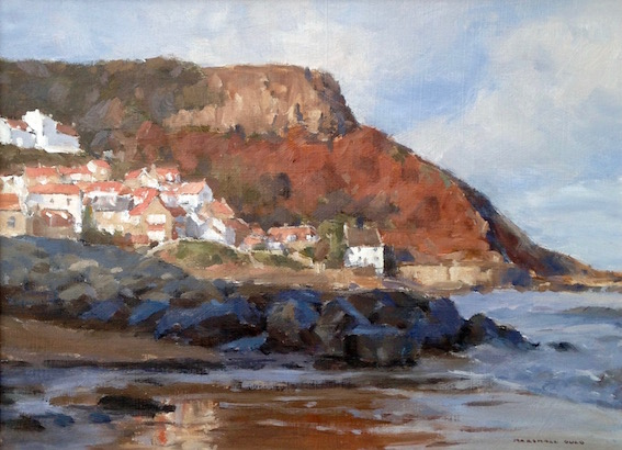Incoming Tide, Runswick Bay Village by Marshall Ould