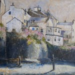 Staithes in Pink by Sue Nichol