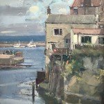 Afternoon Sun, Staithes by David Curtis ROI RSMA