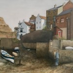 Artist in the Beck, Staithes by Lucy Wilson