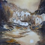 Autumn Evening in Staithes by Anne Ware