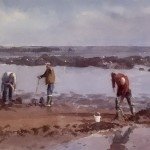Bait Diggers at Runswick by Marshall Ould