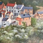 Blackthorne Blossom, Springtime, Staithes by Lucy Wilson