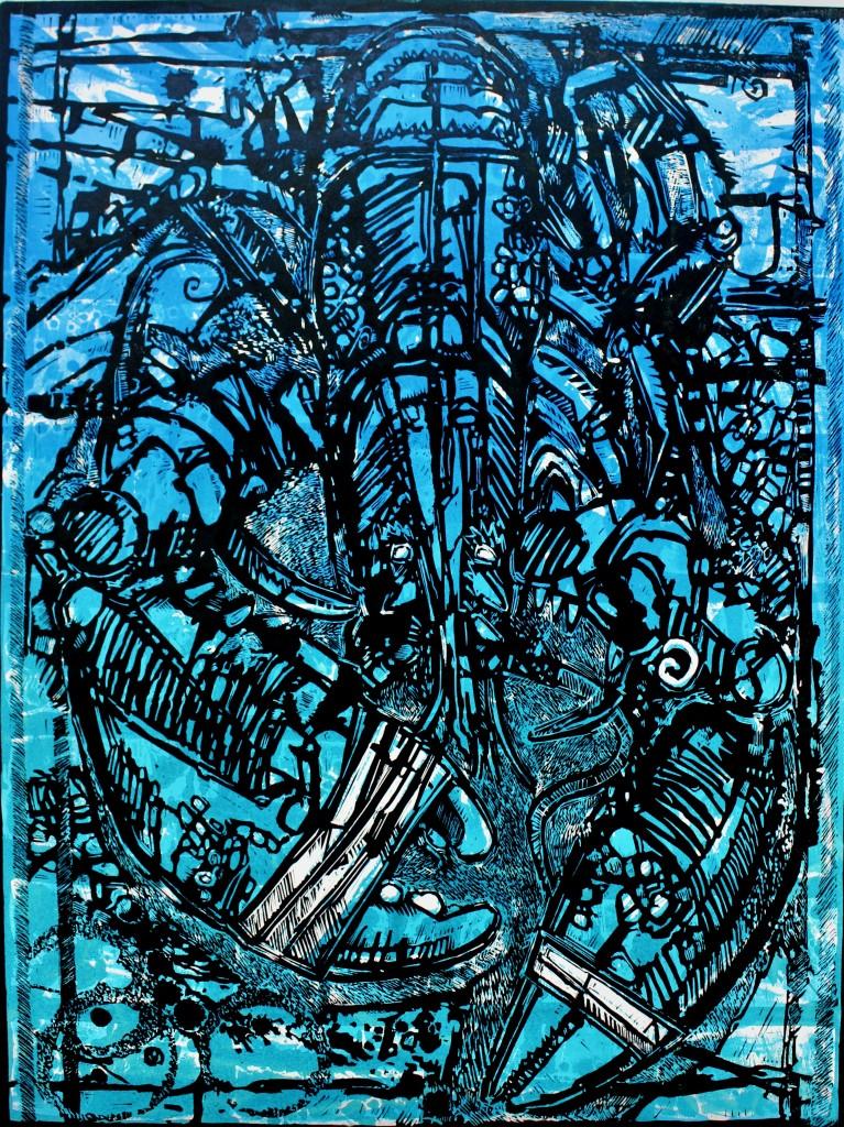 Blue Hummer by Ian Burke