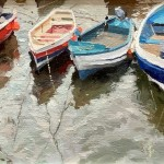 Boats in the Beck, Staithes by Lynton Parmar Hemsley