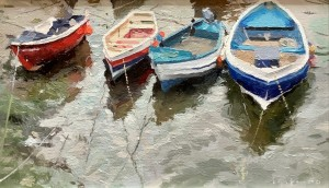 Boats in the Beck, Staithes
