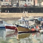 Boats in the Harbour, Staithes by Lynton Parmar Hemsley