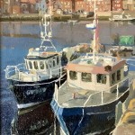 Boats in the Harbour, Whitby by Lynton Parmar Hemsley