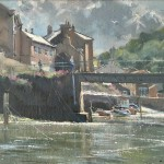 Bright Light and Shower Clouds, Staithes by David CurtisROI RSMA