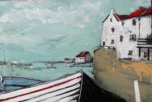Coble and Cottages, Staithes