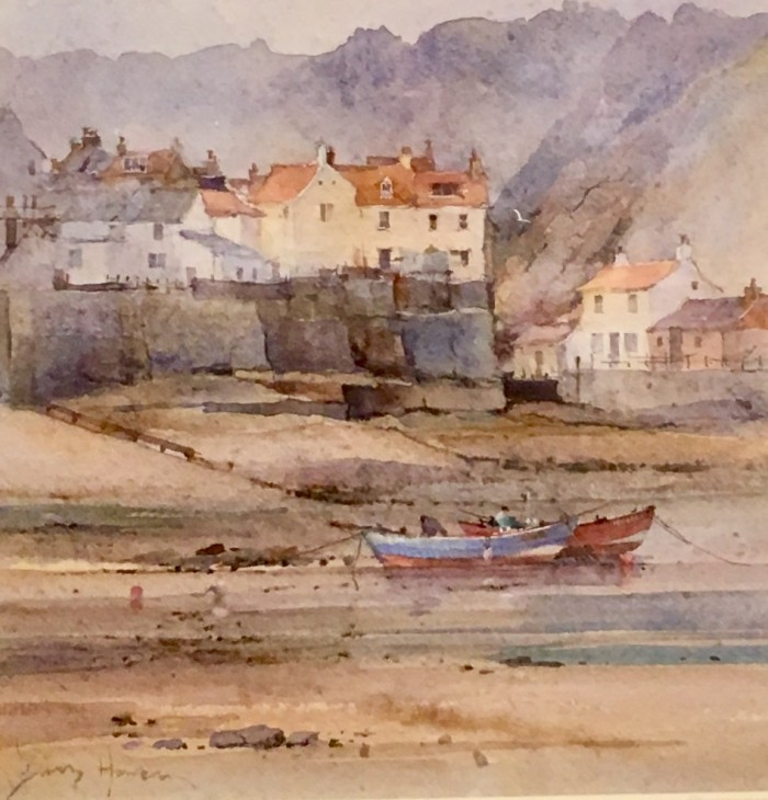 Cobles at Staithes by David Howell PPRSM