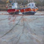 Cobles on the Mud by Robert Brindley RSMA
