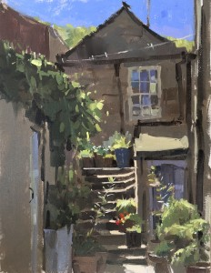 Cottage Steps, Staithes by Haidee-Jo Summers