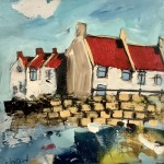 Cottages by the Wall II by Rob Shaw