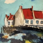 Cottages by the Wall, Staithes I by Rob Shaw