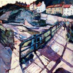 Cowbar Lane from the Footbridge at Staithes by Susan Isaac
