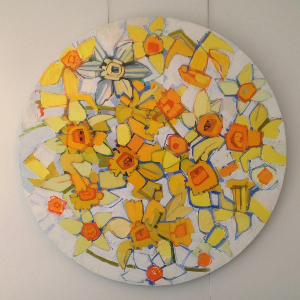 Daffodil Wreath I by Ian Burke