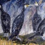 Dancing Cormorants by Sue Nichol