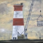 Dismantling the Lighthouse, Orford Ness by Ian Burdall