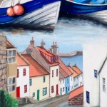 Early Morning Walk, Staithes by Lucy Wilson