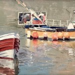 Early Start, Staithes Harbour by Lynton Parmar Hemsley