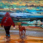 Evening Light, Sandsend by Sue Atkinson