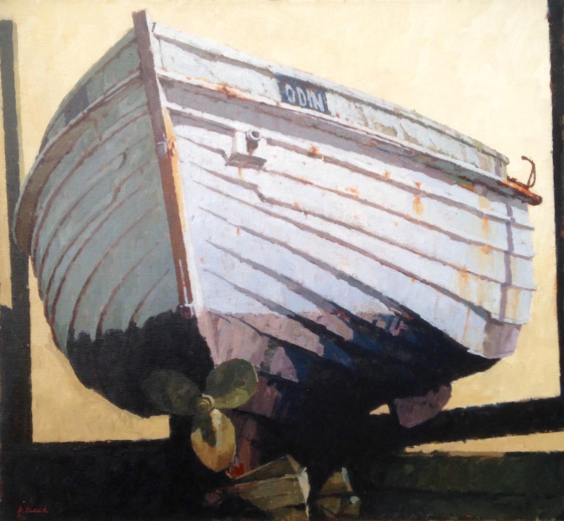 Faded Glory - Odin at Port Mulgrave by Richard Dack RSMA