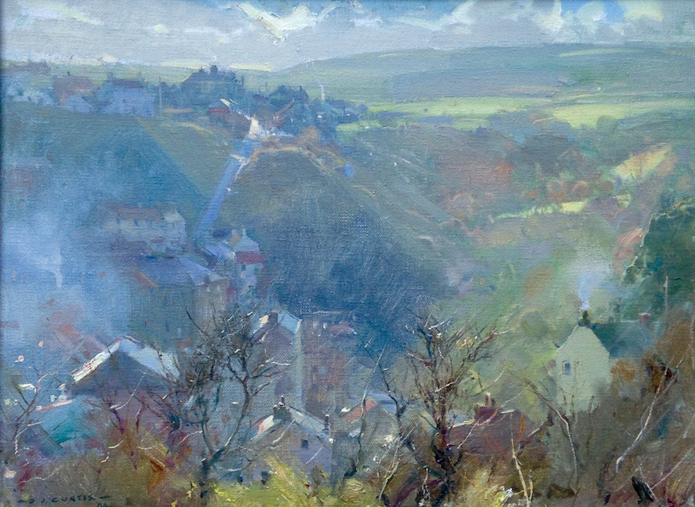 Fine November Morning, Staithes by David Curtis
