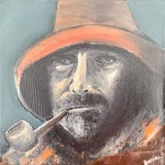 Fisherman with Pipe by Ian Burdall