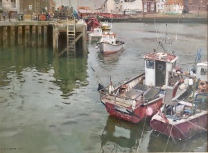 Fishing Boats, Morning, Whitby Harbour