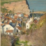 From Church Street, Staithes by David Curtis ROI RSMA