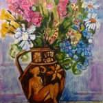 Glaisdale Flowers and Harvest Jug I by Ian Burke