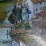 High Viewpoint over the Beck, Staithes by David Curtis RSMA ROI