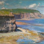Low Tide and Boulby Cliffs by David Curtis
