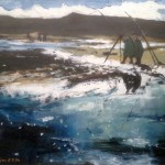 Fishermen at Runswick by Sue Atkinson