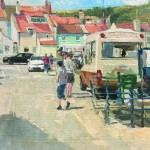 Ice-cream by the Harbour, Staithes by Lynton Parmar Hemsley