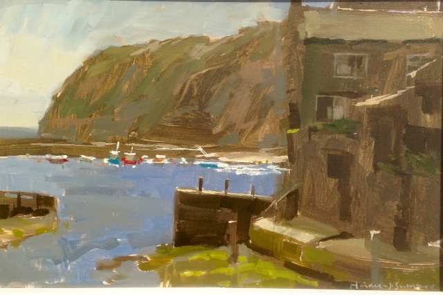 Incoming Tide in the Beck, Staithes by Haidee-Jo Summers