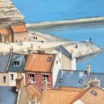 Joffing at the Point, Staithes by Lucy Wilson