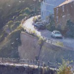 Late Afternoon Light, Staithes by Robert Brindley RSMA