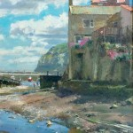 Late Spring, Staithes Beck by David Curtis ROI RSMA