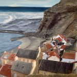 Looking Down at Staithes by Ian Burdall