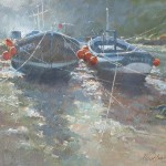 Low Light, Staithes Beck by Robert Brindley RSMA