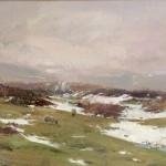 Melting Snow, North York Moors by David Curtis ROI RSMA