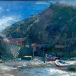 Moorings in Roxby Beck by David Curtis