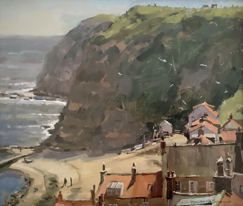 Morning Mist Burning Off, Staithes by Haidee Jo Summers