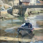 Morning Sun, Staithes Beck by David Curtis ROI RSMA