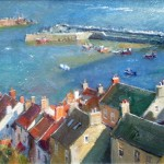 Morning Sun and Rooftops, Staithes by David Curtis