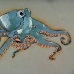 Octopus Blue and Orange by Rob Shaw