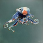 Octopus Orange and Blue by Rob Shaw