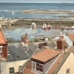 Over the Rooftops to Staithes Harbour by Lynton Parmar Hemsley